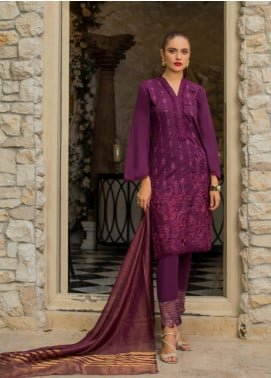 Maira Ahsan Embroidered Lawn Unstitched 3 Piece Suit MA19-DE2 05 - Luxury Collection