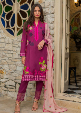 Maira Ahsan Embroidered Lawn Unstitched 3 Piece Suit MA19-DE2 06 - Luxury Collection