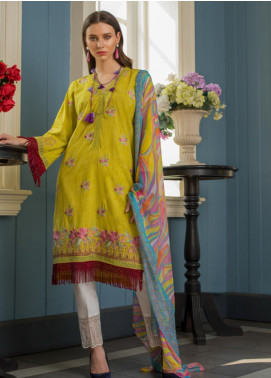 Maira Ahsan Embroidered Lawn Unstitched 3 Piece Suit MA19-DE2 07 - Luxury Collection