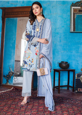 Maira Ahsan by ZS Textile Embroidered Lawn Unstitched 3 Piece Suit MA20ZS 1 - Eid Collection
