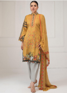 Maira Ahsan by ZS Textile Embroidered Lawn Unstitched 3 Piece Suit MA20ZS 10 - Eid Collection