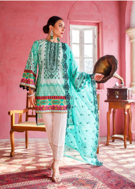 Maira Ahsan by ZS Textile Embroidered Lawn Unstitched 3 Piece Suit MA20ZS 6 - Eid Collection