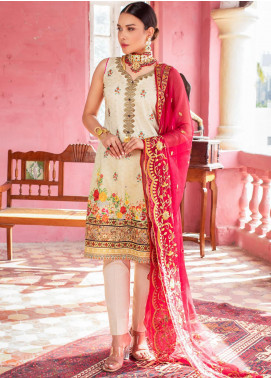 Maira Ahsan by ZS Textile Embroidered Lawn Unstitched 3 Piece Suit MA20ZS 8 - Eid Collection