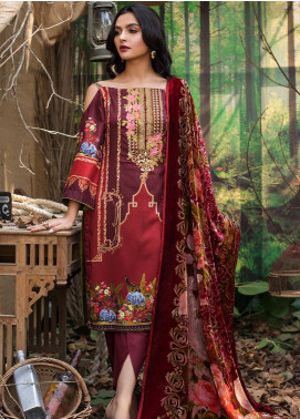 Maira Ahsan Embroidered Linen Unstitched 3 Piece Suit MA19LN 1 - Winter Collection