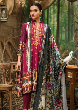 Maira Ahsan Embroidered Linen Unstitched 3 Piece Suit MA19LN 10 - Winter Collection