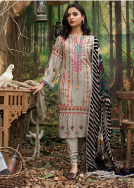 Maira Ahsan Embroidered Linen Unstitched 3 Piece Suit MA19LN 2 - Winter Collection