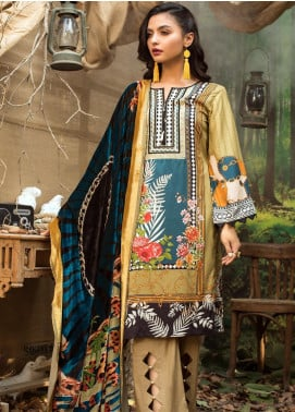Maira Ahsan Embroidered Linen Unstitched 3 Piece Suit MA19LN 3 - Winter Collection
