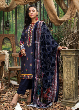 Maira Ahsan Embroidered Linen Unstitched 3 Piece Suit MA19LN 4 - Winter Collection