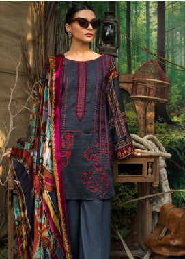 Maira Ahsan Embroidered Linen Unstitched 3 Piece Suit MA19LN 6 - Winter Collection