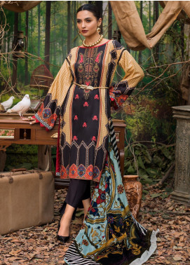 Maira Ahsan Embroidered Linen Unstitched 3 Piece Suit MA19LN 8 - Winter Collection