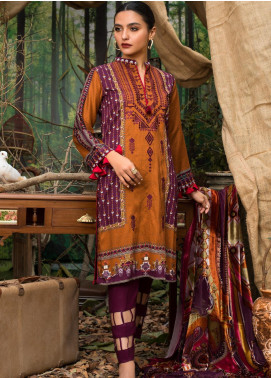 Maira Ahsan Embroidered Linen Unstitched 3 Piece Suit MA19LN 9 - Winter Collection