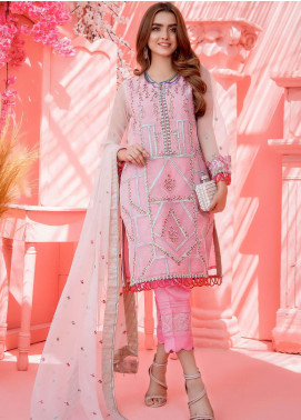 Cherry Blossom by Maison Embroidered Organza Unstitched 3 Piece Suit MSN20CB 01 - Luxury Collection