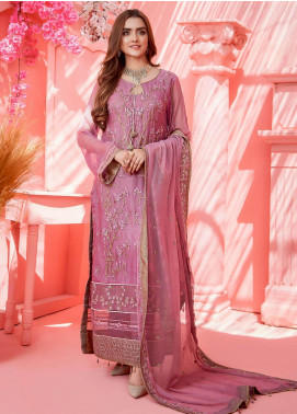 Cherry Blossom by Maison Embroidered Chiffon Unstitched 3 Piece Suit MSN20CB 02 - Luxury Collection