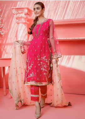 Cherry Blossom by Maison Embroidered Net Unstitched 3 Piece Suit MSN20CB 04 - Luxury Collection