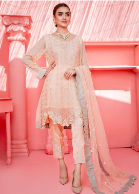 Cherry Blossom by Maison Embroidered Chiffon Unstitched 3 Piece Suit MSN20CB 05 - Luxury Collection