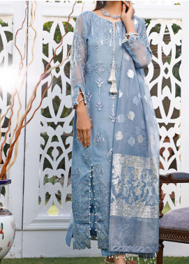 Maison Embroidered Organza Unstitched 3 Piece Suit MSN20HK 05 - Luxury Collection