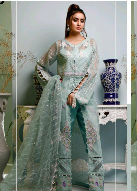 Maison Embroidered Organza Unstitched 3 Piece Suit MSN20L 1002 - Luxury Collection
