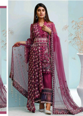 Maison Embroidered Chiffon Unstitched 3 Piece Suit MSN20L 1003 - Luxury Collection