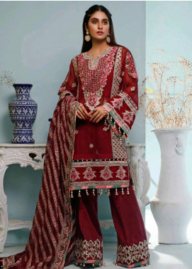 Maison Embroidered Chiffon Unstitched 3 Piece Suit MSN20L 1004 - Luxury Collection