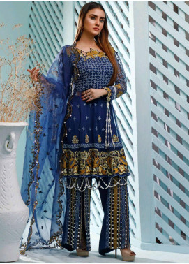 Maison Embroidered Net Unstitched 3 Piece Suit MSN20L 1005 - Luxury Collection