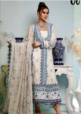 Maison Embroidered Cotton Silk Unstitched 3 Piece Suit MSN20L 1006 - Luxury Collection