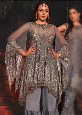EmbRoyal Embroidered Chiffon Unstitched 3 Piece Suit EMB19DK 08 Dusky Grey - Dewan-e-Khas