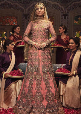 Majestic By Embroyal Embroidered Georgette Unstitched 3 Piece Suit MJE18W 10 - Wedding Collection