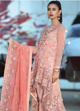 Majestic By EmbRoyal Embroidered Chiffon Unstitched 3 Piece Suit EMB19EE 09 ELITE EMPRESS - Luxury Collection