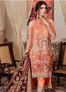 Majestic by Imrozia Embroidered Chiffon Unstitched 3 Piece Suit MJI19IM 08 ANDESINE OBESSION - Luxury Collection