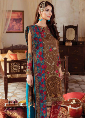 Majestic by Imrozia Embroidered Chiffon Unstitched 3 Piece Suit MJI19IM 10 BURGEON RUESPIA - Luxury Collection