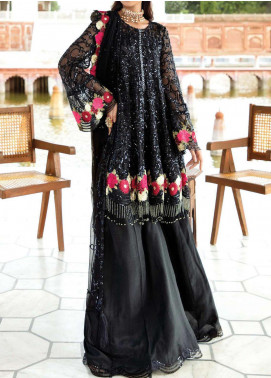 Majestic Eleonora by Imrozia Embroidered Chiffon Unstitched 3 Piece Suit MJI20E 3003 Obisdian Rove - Luxury Collection