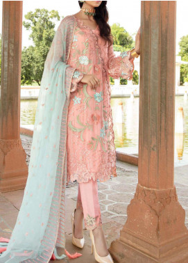 Majestic Eleonora by Imrozia Embroidered Chiffon Unstitched 3 Piece Suit MJI20E 3010 Pechy Allure - Luxury Collection