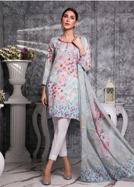 Zaibunnisa Formal Lawn Stitched 3 Piece Suit 02 Multi