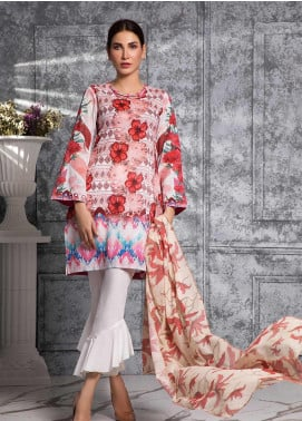 Zaibunnisa Formal Lawn Stitched 3 Piece Suit 04 Multi