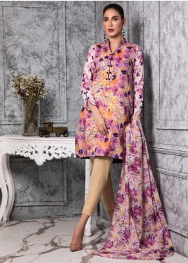 Zaibunnisa Formal Lawn Stitched 3 Piece Suit 06 Multi