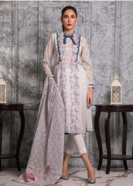 Zaibunnisa Formal Lawn Stitched 3 Piece Suit 07 Multi