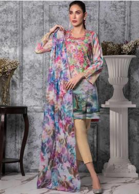 Zaibunnisa Formal Lawn Stitched 3 Piece Suit 09 Multi