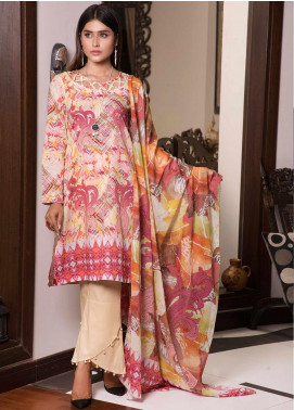 Zaibunnisa Formal Lawn Stitched 3 Piece Suit V2-03 Multi