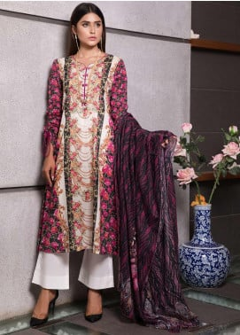 Zaibunnisa Formal Lawn Stitched 3 Piece Suit V2-04 Multi