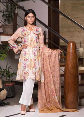 Zaibunnisa Formal Lawn Stitched 3 Piece Suit V2-06 Multi