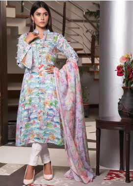 Zaibunnisa Formal Lawn Stitched 3 Piece Suit V2-08 Multi
