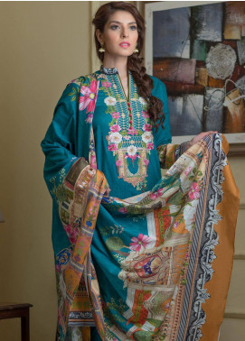 Malhar Embroidered Lawn Unstitched 3 Piece Suit ML19F 3B - Festive Collection