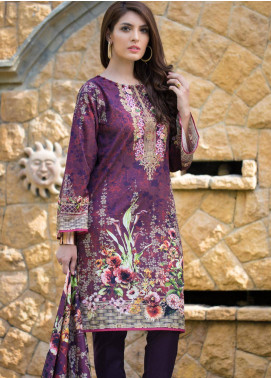 Malhar Embroidered Lawn Unstitched 3 Piece Suit ML19F 5B - Festive Collection
