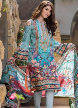 Malhar Embroidered Lawn Unstitched 3 Piece Suit ML19F 6A - Festive Collection