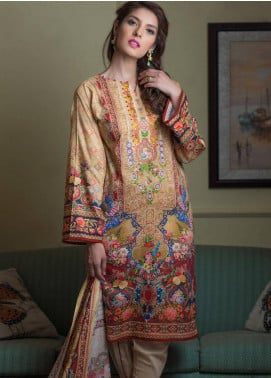 Malhar Embroidered Lawn Unstitched 3 Piece Suit ML19F 6B - Festive Collection