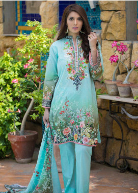Malhar Embroidered Lawn Unstitched 3 Piece Suit ML19F 7B - Festive Collection
