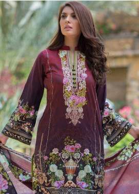 Malhar Embroidered Lawn Unstitched 3 Piece Suit ML19F 8A - Festive Collection