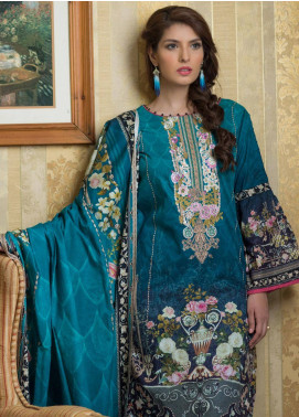 Malhar Embroidered Lawn Unstitched 3 Piece Suit ML19F 8B - Festive Collection