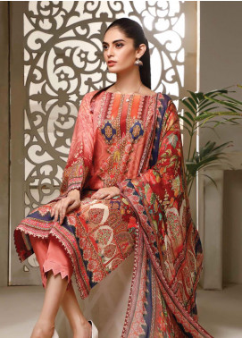 Malhar Printed Lawn Unstitched 3 Piece Suit ML20B B71-A - Summer Collection