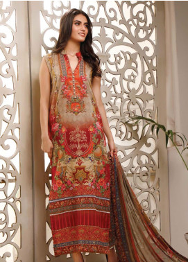 Malhar Printed Lawn Unstitched 3 Piece Suit ML20B B74-B - Summer Collection